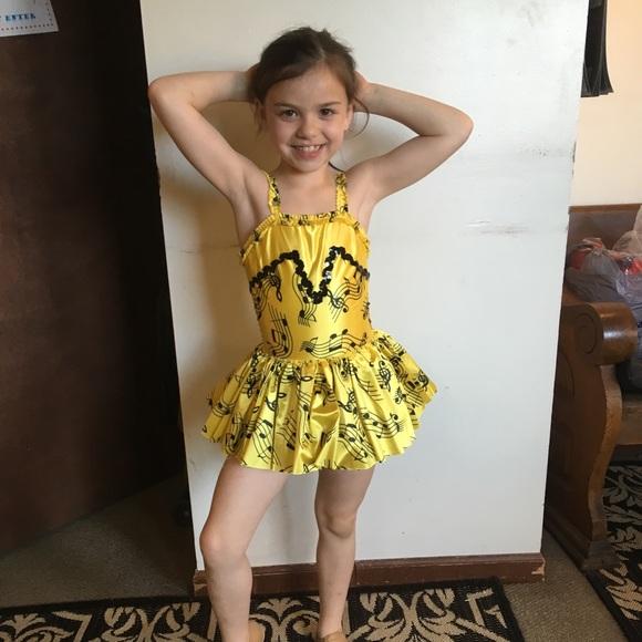 Music Note Yellow And Black Dance Costume